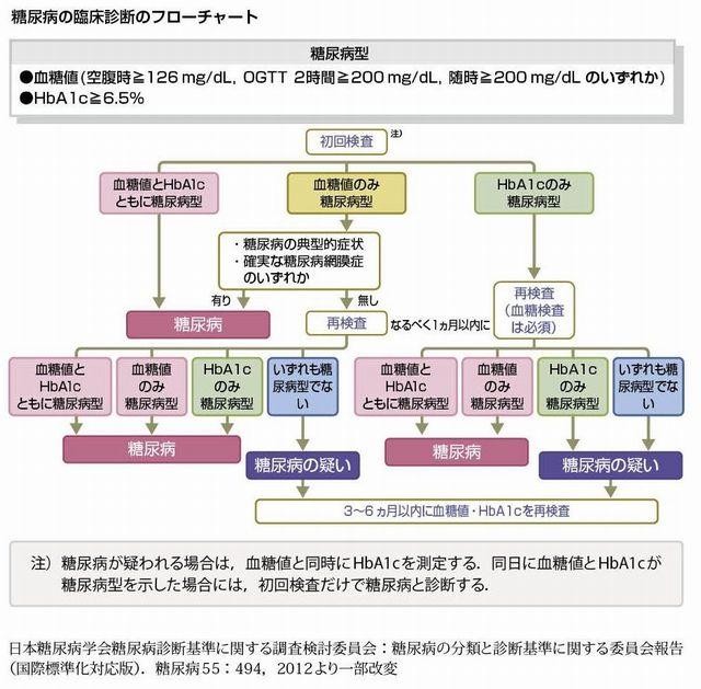 糖尿病判定フローチャート